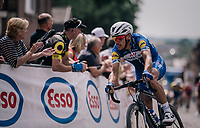 Philippe Gilbert (BEL/Quick Step floors) shifts the peloton some more up the cobbled climb<br /> <br /> Belgian National Championships 2018 (road) in Binche (224km)<br /> ©kramon