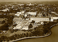 historical aerial photograph Washington, DC, 1931