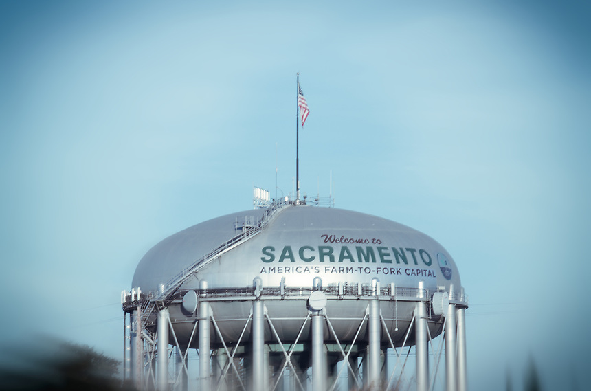 """Most people from Sacramento will almost immediately recognize this iconic """"Welcome To Sacramento"""" 130-foot-high water tower that borders Interstate 5. Before it reads """"America's Farm-to-Fork Capital,"""" it was """"Welcome To Sacramento, City of Trees."""" It had mixed results from Sacramentans, but either way to me, both taglines represent Sacramento."""