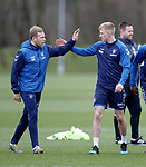 07.03.2019 Rangers training: Scott Arfield and Ross McCrorie
