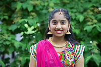 Indian Folk Dancer Girl, NW Folklife Festival, Seattle, WA, USA.