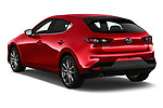 Car pictures of rear three quarter view of 2019 Mazda Mazda-3 - 5 Door Hatchback Angular Rear