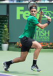 April 2 2017: Roger Federer (SUI) defeats Rafael Nadal (ESP) by 6-3, 6-4, at the Miami Open being played at Crandon Park Tennis Center in Miami, Key Biscayne, Florida. ©Karla Kinne/tennisclix/EQ
