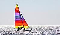 Nederland IJmuiden 2016. Zeezeilen in IJmuiden. Foto Berlinda van Dam / Hollandse Hoogte