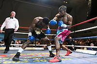Bernado Marime (blue shorts) defeats Jacob Gabriel during a Boxing Show at the Corn Exchange on 25th September 2021