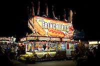 Food Vendors Stand at North Carolina State Fair