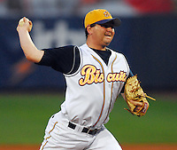 Chris Mason of the Montgomery Biscuits pitches in the 2007 Southern League All-Star Game July 9, 2007, at Trustmark Park in Pearl, Miss. Photo by:  Tom Priddy/Four Seam Images