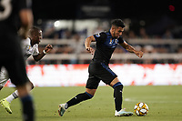 SAN JOSE, CA - SEPTEMBER 25: Andres Rios #25 of the San Jose Earthquakes during a Major League Soccer (MLS) match between the San Jose Earthquakes and the Philadelphia Union on September 25, 2019 at Avaya Stadium in San Jose, California.