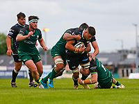 4th June 2021; Galway Sportsgrounds, Galway, Connacht, Ireland; Rainbow Cup Rugby, Connacht versus Ospreys; Ethan Roots (Ospreys) tries to get away from Connacht captain Jarrad Butler