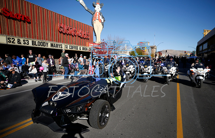 Carson City Mayor Bob Crowell and his wife Susan ride in the Nevada Day parade in Carson City, Nev., on Saturday, Oct. 26, 2019.  <br /> Photo by Cathleen Allison/Nevada Momentum