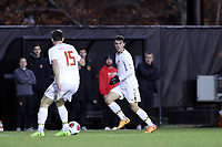 WINSTON-SALEM, NC - NOVEMBER 24: Justin Gielen #9 of the University of Maryland brings the ball into the attack during a game between Maryland and Wake Forest at W. Dennie Spry Stadium on November 24, 2019 in Winston-Salem, North Carolina.