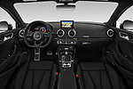 Stock photo of straight dashboard view of a 2017 Audi RS 3 Base 4 Door Sedan