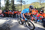 Alejandro Valverde (ESP) Movistar Team on the final climb of Ermualde during Stage 3 of the Itzulia Basque Country 2021, running 167.7km from Amurrio to Laudi/Ermualde, Spain. 7th April 2021.  <br /> Picture: Luis Angel Gomez/Photogomezsport | Cyclefile<br /> <br /> All photos usage must carry mandatory copyright credit (© Cyclefile | Luis Angel Gomez/Photogomezsport)