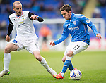St Johnstone v Inverness Caley Thistle...02.05.15   SPFL<br /> Danny Swanson and James Vincent<br /> Picture by Graeme Hart.<br /> Copyright Perthshire Picture Agency<br /> Tel: 01738 623350  Mobile: 07990 594431