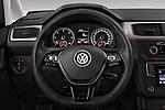 Car pictures of steering wheel view of a 2015 Volkswagen Caddy Maxi Dark & Cool 5 Door Mini Mpv Steering Wheel