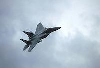 -  caccia USA F 15 in decollo dalla base tedesca di Bitburg....-  F 15 US fighter take off from the German base of Bitburg