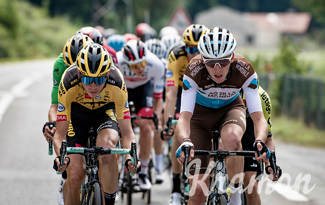 relatively soon into the stage an elite breakaway group was formed with some big hitters present.<br /> Romain Bardet (FRA/AG2R-La Mondiale) taking to the front here.<br /> <br /> Stage 5: Megève to Megève (154km)<br /> 72st Critérium du Dauphiné 2020 (2.UWT)<br /> <br /> ©kramon