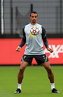 14th September 2021: The  AXA Academy, Kirkby, Knowsley, Merseyside, England: Liverpool FC training ahead of Champions League game versus AC Milan on 15th September: Joel Matip of Liverpool controls the ball