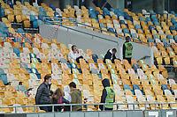 Sitzplatzmarkierung für die VIPS im Stadion<br /> - 10.10.2020: Ukraine vs. Deutschland, UEFA Nations League, 3. Spieltag, Olympiastadion Kiew <br /> DISCLAIMER: DFB regulations prohibit any use of photographs as image sequences and/or quasi-video.
