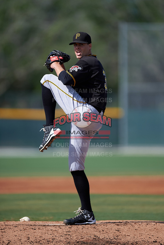 Pittsburgh Pirates John Kuchno (31) during a minor league Spring Training intrasquad game on April 3, 2016 at Pirate City in Bradenton, Florida.  (Mike Janes/Four Seam Images)