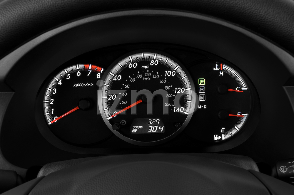 Instrument panel close up detail view of a 2008 Mazda 5
