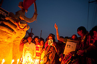 Relatives of the victims of the April 24 Rana Plaza building collapse gather to pay tributes at the venue of the tragedy at Savar, on the outskirts of Dhaka, Bangladesh, 23rd April 2014.