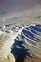 aerial photograph of dunes, Death Valley National Park, northern Mojave Desert, California