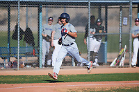 Garcia Marquez (44), from Modesto, California, while playing for the Tigers during the Under Armour Baseball Factory Recruiting Classic at Red Mountain Baseball Complex on December 28, 2017 in Mesa, Arizona. (Zachary Lucy/Four Seam Images)