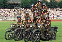 - Bersaglieri, acrobatic exhibition in motorcycle....- Bersaglieri, esibizione acrobatica in motocicletta