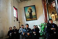 CHINA Province Shaanxi catholic church in Tongyuan, mission conference / CHINA Provinz Shaanxi , katholische Kirche in Tongyuan, Missionskonferenz