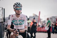 former Liège winner Wout Poels (NED/Team Sky) pre-race<br /> <br /> 104th Liège - Bastogne - Liège 2018 (1.UWT)<br /> 1 Day Race: Liège - Ans (258km)