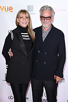 """Trevor Eve and wife Sharon Maughan<br /> arriving for the World premiere of """"Bees Make Honey"""" at the Vue West End, Leicester Square, London<br /> <br /> <br /> ©Ash Knotek  D3314  23/09/2017"""