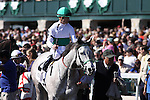 Forever Together with Julien Leparoux and trainer Jonathan Sheppard after running second in The Jenny Wiley (grII) at Keeneland Race Course. 04.10.2010