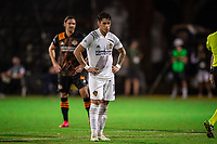 LAKE BUENA VISTA, FL - JULY 23: Cristian Pavon #10 of the LA Galaxy waiting for the penalty kick during a game between Los Angeles Galaxy and Houston Dynamo at ESPN Wide World of Sports on July 23, 2020 in Lake Buena Vista, Florida.