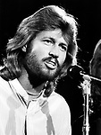 Bee Gees 1979 Barry Gibb at UNICEF concert at the UN