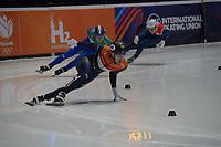 SPEEDSKATING: DORDRECHT: 05-03-2021, ISU World Short Track Speedskating Championships, Heats 500m Men, Dylan Hoogerwerf (NED), ©photo Martin de Jong