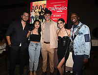 """LOS ANGELES - SEPT 2: (L-R) Sunisa Lee, Noah Beck, Dixie D'Amelio, and Markell Washington attend a screening of Hulu's """"The D'Amelio Show"""" at NeueHouse Rooftop Hollywood on September 2, 2021 in Los Angeles, California. (Photo by Frank Micelotta/Hulu/PictureGroup)"""