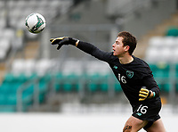 15th November 2020; Tallaght Stadium, Dublin, Leinster, Ireland; 2021 Under 21 European Championships Qualifier, Ireland Under 21 versus Iceland U21; Republic of Ireland goalkeeper Ed McGinty throws the ball out