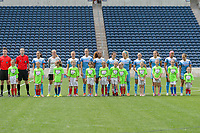 Bridgeview, IL - Sunday June 04, 2017: Chicago Red Stars Starting XI during a regular season National Women's Soccer League (NWSL) match between the Chicago Red Stars and the Seattle Reign FC at Toyota Park. The Red Stars won 1-0.