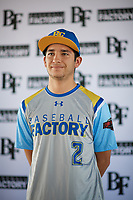 Joseph Hernandez (2) of Righetti High School in Santa Maria, California during the Baseball Factory All-America Pre-Season Tournament, powered by Under Armour, on January 12, 2018 at Sloan Park Complex in Mesa, Arizona.  (Zachary Lucy/Four Seam Images)