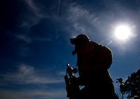 Jun. 1, 2014; Englishtown, NJ, USA; NHRA pro stock driver Jeg Coughlin Jr celebrates after winning the Summernationals at Raceway Park. Mandatory Credit: Mark J. Rebilas-