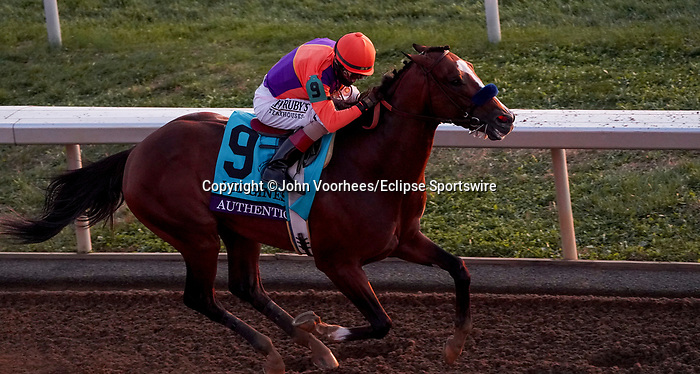 November 7, 2020 : Authentic, ridden by John Velazquez, wins the Longines Classic on Breeders' Cup Championship Saturday at Keeneland Race Course in Lexington, Kentucky on November 7, 2020. John Voorhees/Breeders' Cup/Eclipse Sportswire/CSM