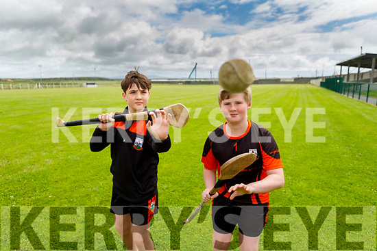 Sean Flahive and Cody Goggin from Ballyheigue looking forward to hurling action as Ballyheigue GAA clubs reopens.
