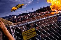 Spanky Spangler crash at Evel Knievel Days