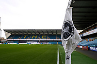 31st October 2020; The Den, Bermondsey, London, England; English Championship Football, Millwall Football Club versus Huddersfield Town; Corner flag inside The Den Stadium