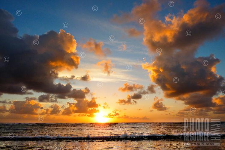 """Sunrise at """"Baby Beach"""" in Kapa'a, Kaua'i."""