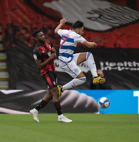 Bournemouth's Jefferson Lerma (left) battles for possession with Queens Park Rangers' MacAuley Bonne (right) <br /> <br /> The EFL Sky Bet Championship - Bournemouth v Queens Park Rangers - Saturday 17th October 2020 - Vitality Stadium - Bournemouth<br /> <br /> World Copyright © 2020 CameraSport. All rights reserved. 43 Linden Ave. Countesthorpe. Leicester. England. LE8 5PG - Tel: +44 (0) 116 277 4147 - admin@camerasport.com - www.camerasport.com