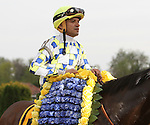 April 18, 2015: Moreno with Cornelio Velasquez wins the 1,500,000 Grade II Charles Town Classic for 4-year olds & up, going 1 1/8 mile at Charles Town Racetrack. Trainer: Eric Guillot. Owner:Southern Equine Stable, LLC . Sue Kawczynski/ESW/CSM