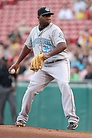 Syracuse Chiefs starting pitcher Shairon Martis during a game vs. the Buffalo Bisons at Coca-Cola Field in Buffalo, New York;  August 30, 2010.  Syracuse defeated Buffalo 4-1.  Photo By Mike Janes/Four Seam Images