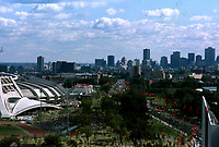 July 17,1976 File Photo - The Montreal Olympic stadium (L) during the 1976 Olympics opening ceremony.